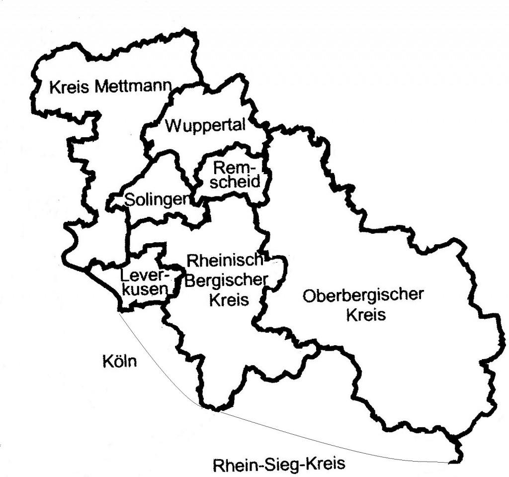 Grenzen des Bergischen Landes