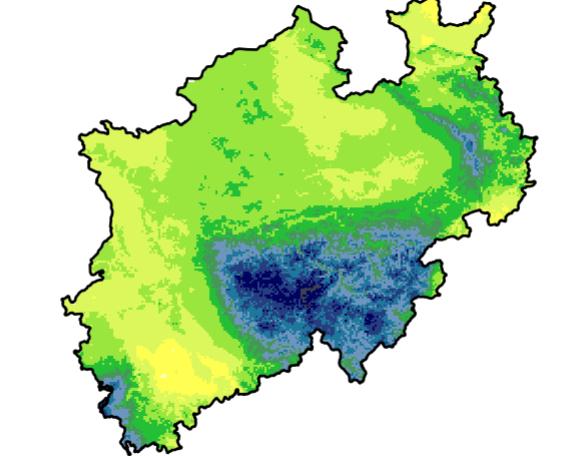 Niederschlagsmengen NRW