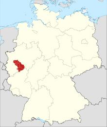 Umrisse des Bergischen Landes in Deutschland